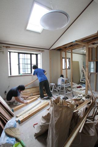 2×4ツーバーフォー住宅のリフォーム工事中
