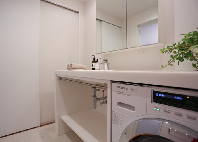 洗面室のリフォーム工事後