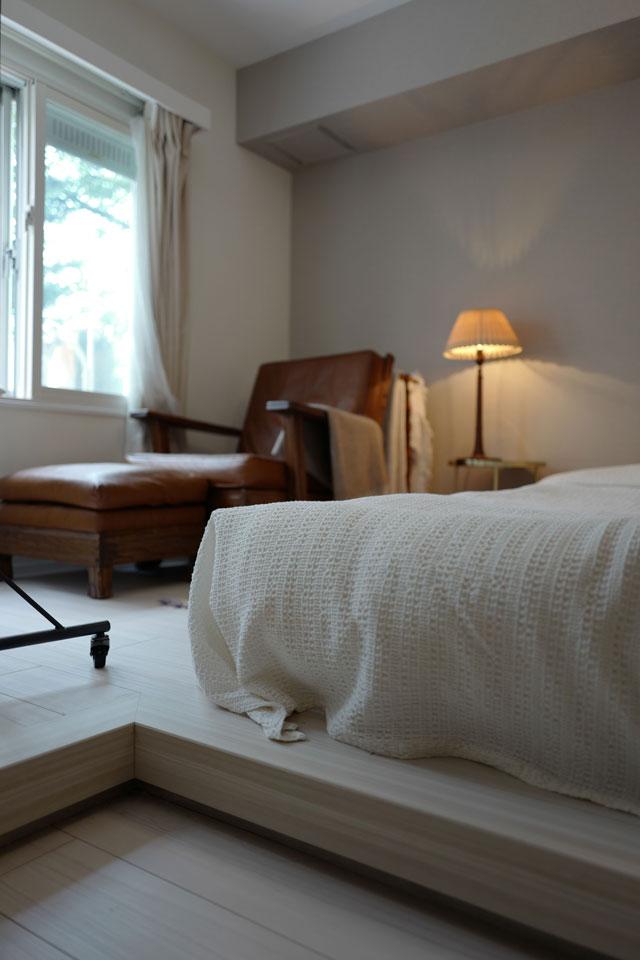 小上がりにした寝室